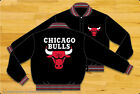 Chicago Bulls Reversible Black Mens Adult Wool Official NBA Jacket by JH Design