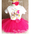 Pink Carousel Horse Ponies 4th Fourth Birthday Tutu Outfit Shirt Set Party Dress