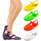Ladies Strap Jelly Sandals Women Gladiator Fisherman Shoes Summer Low Heels