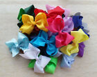 "25/50PCS 5"" Baby Girl Boutique Big Hair Bows Clips Grosgrain Ribbon Flower Pick"