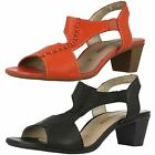 Ladies Remonte T-Bar Heeled Sandals R9252