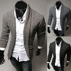 Vogue NEW Mens Casual V-neck Long-sleeve Sweaters Collar Cardigan Knitwear BDAU