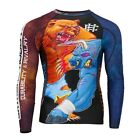 RASH GUARD EXTREME HOBBY LONG SLEEVE BULL & BEER FOR TRAINING MMA, FIGHT,GYM !