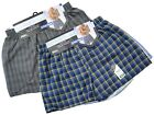 12 Mens Woven Classic Boxer Shorts Loose Fitting Cotton Underwear / All Sizes