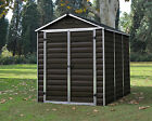 PALRAM SKYLIGHT GARDEN SHED NEW DARK BROWN IN 6 SIZES WITH FREE DELIVERY
