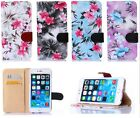 Flowers Luxury Leather Flip Wallet  Stand Case Cover For Apple iPhone 6 6Plus