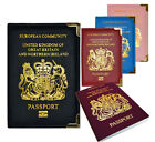 New 4 Colour PU Leather UK and European Passport Holder Wallet Protective Cover