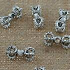 DIY Jewelry Findings Tibetan Silver 16mm Hole 2mm Vajra Loose Beads YJ-1821