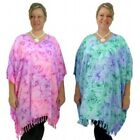 Ladies Plus Size KAFTAN Tunic Top NEW Size 10 - 26 Beach Cover Up Resort Wear