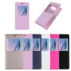Luxury View Window Flip Leather Hard Case Cover for Samsung Galaxy S6 Tide NEW
