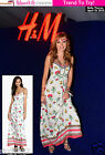H&M LOVES COACHELLA FLORAL PRINT BOHO SUMMER MAXI DRESS Sz 10 12 14 16