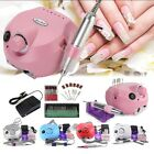 30000RPM Electric Nail Art Drill Files Manicure Polish Machine 6 Grinding Heads