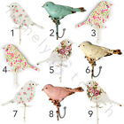 New Choice Of Vintage Style Metal Wall Hooks Spring Birds Floral Pastel Colours