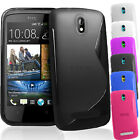 Grip Wave S Line Soft Silicone TPU Gel Skin Case Cover For HTC Desire 500