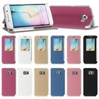 Flip Leather View Window Case Cover Stand for Samsung Galaxy S6 Edge SM-G925