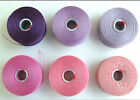 C-LON BEAD THREAD Size D or AA  6 SHADES  PURPLE PINK