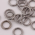 Lots 100/200Pcs Tibet Silver Twist-Rings Loose Spacer Beads Charm Findings 8mm