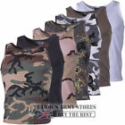 TANK TOP MENS COMBAT CAMOUFLAGE PLAIN ARMY MILITARY MUSCLE VEST HUNTING FISHING