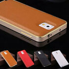 Luxury Ultra-thin Metal +leather Back Case Cover For Samsung Galaxy Note 3 N9000