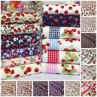 per 1/2 Mtr/fat quarter STRAWBERRY PATTERNED FABRICS 100% cotton