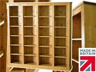 Solid Pine Bookcase, 6ft x 6ft Multi-Display Lacquered Adjustable Book Shelving