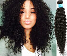US local 1/2/3Bundles Curly Wave Peruvian Human Hair Extension Black Hair Wefts