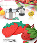 Korea Silicone Frying Pan Pot Kettle Teakettle Stand Kitchen Cooking Strawberry