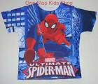 SPIDERMAN Toddler Boys 2T 3T 4T 5T Short Sleeve Tee SHIRT Top MARVEL Super Hero