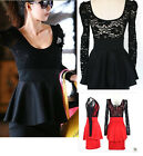 Sexy Lace Long Sleeve Club Cocktail Evening Party Mini Women Dress New Fashion