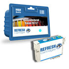 REMANUFACTURED (NON GENUINE) T0712 CYAN INK CARTRIDGE FOR EPSON STYLUS PRINTERS