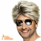 George Michael Wig 80's Street Blonde Brown Mens Wham Fancy Dress Accessory New