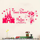 Disney Minnie Mouse Sweet Dream Personalized Name Wall Art Stickers Castle Mural