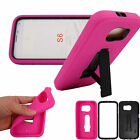 3 in 1 Layer Silicone PC Plastic Hybrid Stander Cover Case For Samsung Galaxy S6