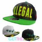 Mens Womens Illegal Weed Cannabis Jamaican Flag Retro Hip Hop Flat Cap Snapback