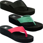 Comfy Flip Flops EVA Wedge Platform Thong Beach Sandals for Women
