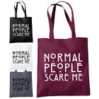 Normal People Scare Me Shopper Tote Bag - Funny American Inspired Fashion Bags