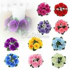 New Wedding Centerpieces Silk Roses Flower Candle Ring Party Table Decorations
