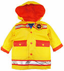 Wippette Toddler Boys Gold Hooded Firefighter Raincoat Jacket size 2T 3T 4T