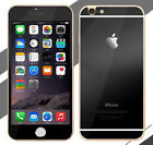 Apple iPhone 6 & 6 Plus Front Back Tempered Glass Black Coverage Protector I28