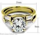 Size J L N 5 6 7 Solitaire Wedding Engagement Ring set YELLOW LTK44701E