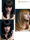 Ladies Womens Fever Tanja Long Feathered Professional Quality Wig Fancy Dress