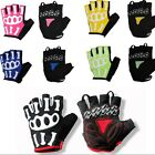New Cycling Bike 3D Skeleton Joint Bicycle Sports Half Finger Glove Size S-XXL