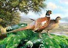Glass Chopping Board Kitchen Worktop Saver Protector Two Pheasants Country Scene