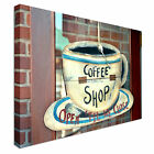 Coffee shop closed and open sign Canvas Art Cheap Wall Print Home Interior