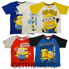 BOYS NOVELTY CARTOON DESPICABLE ME MINION TSHIRT KIDS CHARACTER COTTON TEE TOP