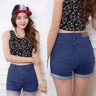 Women Girls Sexy High Waist Denim Jeans Summer Short Shorts Retro Hot Pants LA