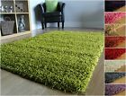 SMALL X LARGE M SIZE THICK PLAIN SOFT SHAGGY RUGS NON SHED 5cm PILE MODERN rugs