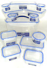 Food Storage Containers Plastic Microwave Tupperware Boxes Clip Lock Lids Vacuum