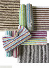 100% Cotton Bathroom Mats Set - Washable Bath & Pedestal Mat Sets - 10 Colours