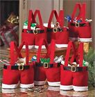 HOT Christmas Red Trick-or-treat Bags Santa Claus Pants Candy Bags Gift Bags LA